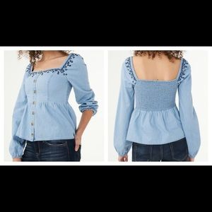 NWT Aeropostale Long Sleeve Embroidered Babydoll